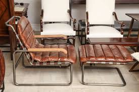 Iconic Chairs Of 20th Century 20th Century Tubular Steel Chair And Ottoman