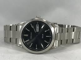 bracelet titanium seiko images Men 39 s seiko sne039 stainless steel bracelet black solar dial watch jpg