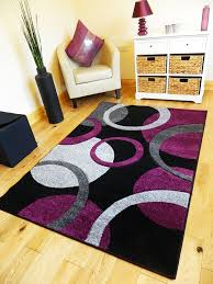 Large Purple Rugs 5 Sizes New Small Medium Xx Large Modern Purple Black Silver
