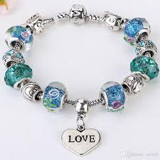 love hearts charm bracelet images 2016 best selling 925 silver plated pandora bracelet love style jpg