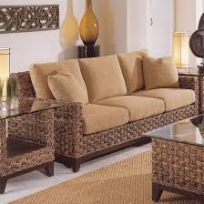 rattan sleeper sofa braxton culler tribeca 2960 modern wicker three seat sleeper