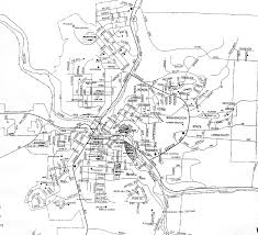 Wa Map Street Map Of The City Of Pullman