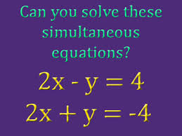 gcse simultaneous equations solving at the same time