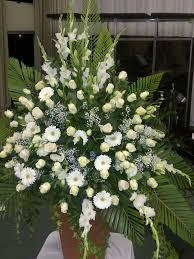 green u0026 white mass wedding flowers mass flower arrangements