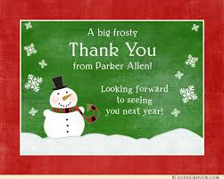snowman winter thank you card event style design