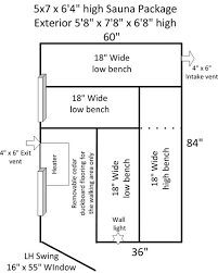 Backyard Sauna Plans by 5 U0027x7 U0027 Outdoor Sauna Kit Heater Accessories