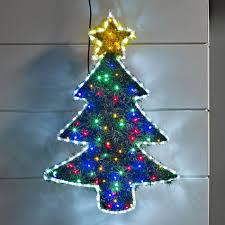 tinsel tree led rope light silhouette lighting