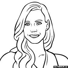 coloring pages jessica name famous actress coloring pages page 1