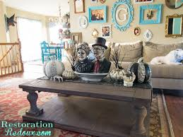 easy thanksgiving coffee table decor restoration redoux