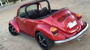 volkswagen beetle pink convertible 1972 vw beetle convertible conversion 1600 superbug youtube