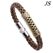 men bracelet design images Js 2016 cool charm metal bracelet men latest design braslet bangle jpg