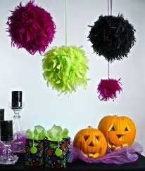 decorating with feathers for halloween from the feather