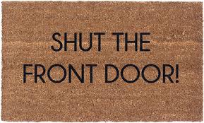 Exterior Door Mat Vinyl Back Doormat Shut The Front Door Coir Doormat