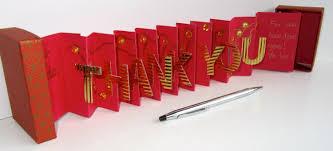 thank you card in a box accordion miniature book card original