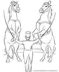 circus animals coloring trained horses desenhos