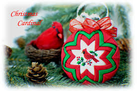 cardinal quilted ornament kit