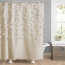 Frilly Shower Curtain Amazon Com Lush Decor Lucia Shower Curtain 72 Inch By 72 Inch