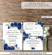 royal blue wedding invitations blue wedding invitation template royal blue wedding