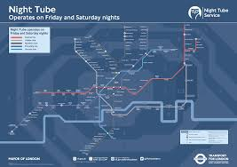 Map My Route Running by The Night Tube Transport For London