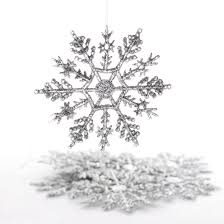 snowflake ornaments silver glitter snowflake ornaments christmas ornaments