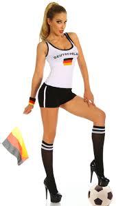 Female Football Halloween Costume Football Jersey Tank Germany N8095