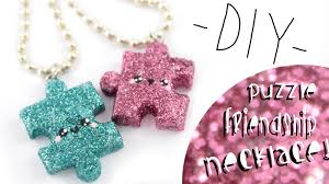 diy necklace pendants images Puzzle friendship necklaces diy kawaii friday jpg