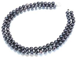 freshwater pearl necklace images 2 strand black pearl necklaces JPG