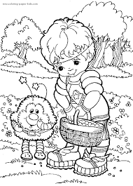 rainbow brite color cartoon characters coloring pages color