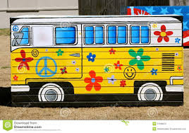 volkswagen bus painting volkswagen party bus stock image image of flower party 51596075