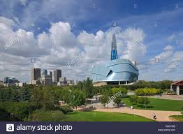 winnipeg skyline with canadian museum for human rights winnipeg