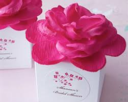 personalized wedding favor boxes basic white flower top favor box