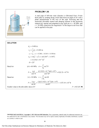 solution manual for mechanics of materials 7th edition by beer by