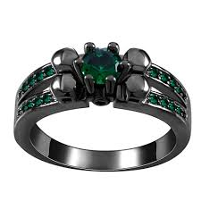 flower emerald rings images 2018 green royal blue crystal black gun rings for women vintage jpg
