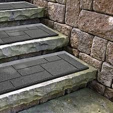 envirotile cobblestone grey stair tread 10 inch x 24 inch the