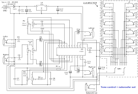 circuit diagram of home theater tone control subwoofer filter electronic circuit