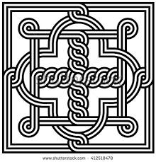 georgian ornament vector illustration abstract seamless stock