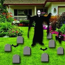 ghostface and tombstones halloween yard decoration victorystore com