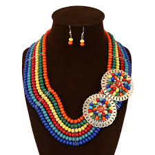 fashion beads necklace images Nigerian beads jewelry set 2016 fashion women wedding bridal jpg