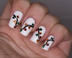 Christmas Light Nails by Lacky Corner Winter Nail Art Challenge Christmas Lights Or Candles