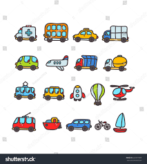 yellow jeep clipart cute cartoon hand drawn transport icon stock vector 241871809