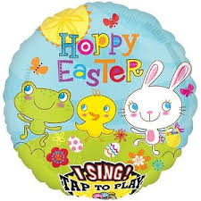 singing balloon cottontail happy easter singing balloon 28in balloons foil