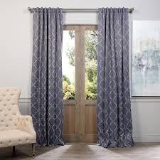 Black Out Curtain Panels Exclusive Fabrics Seville Print Blackout Curtain Panel Pair Free