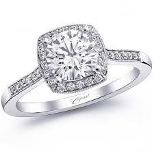 cushion ring coast cushion halo thin diamond engagement ring