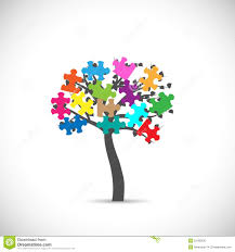 puzzle tree stock vector image 52186530