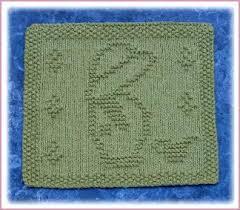 garden boy free knit dishcloth pattern