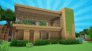 Modern Houses Minecraft Minecraft Starter Modern House Tutorial How To Build A House In