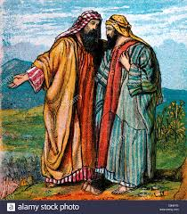 bible stories illustration of the parting of abraham and lot