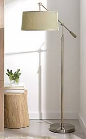 Tall Floor Lamps For Living Room Made From Weighty Iron With A Spun Brass Finish Our Sleek Floor