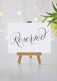 reserved signs for wedding tables reserved signs for wedding reserved table sign printable