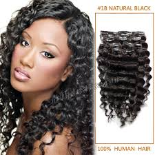 human hair extensions uk inch versatile 1b black clip in hair extensions curly 7
